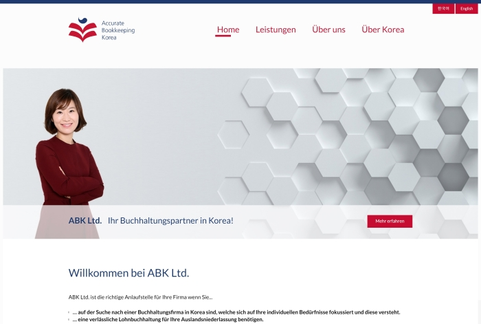 Webdesign Referenz ABK Ltd.