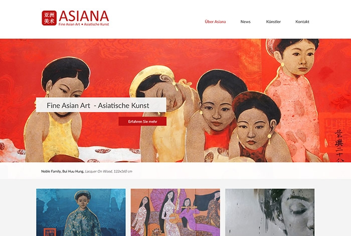 Webdesign Referenz ASIANA Fine Asian Art