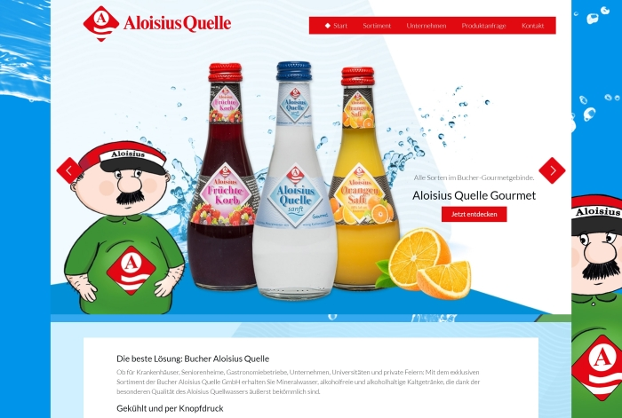Webdesign Referenz Bucher Aloisius Quelle