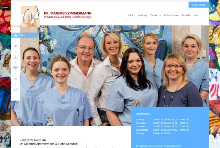 Webdesign Referenz Dr. Manfred Zimmermann