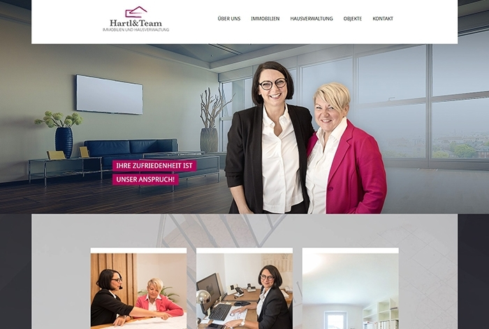 Webdesign Referenz Hartl & Team Immobilien