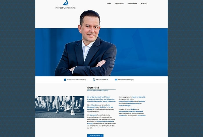 Webdesign Referenz Herbst Consulting