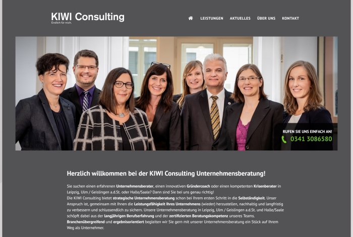 Webdesign Referenz KIWI Consulting GmbH & Co. KG