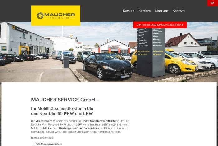 Webdesign Referenz Maucher Service