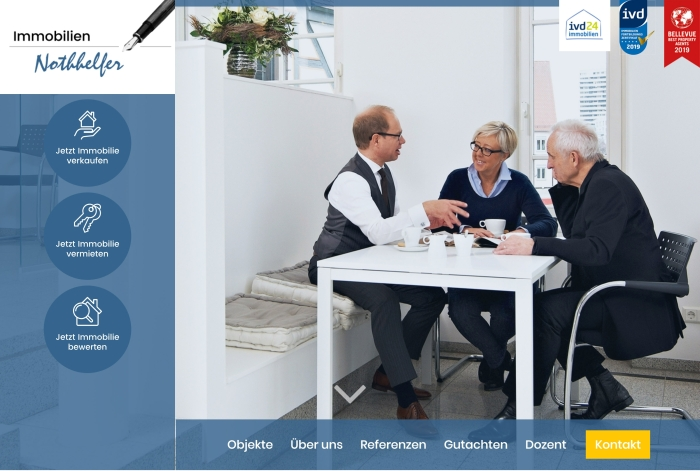 Webdesign Referenz Nothhelfer Immobilien