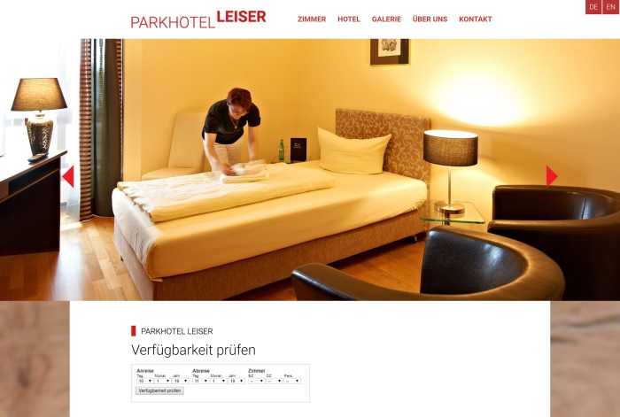 Webdesign Referenz PARKHOTEL LEISER