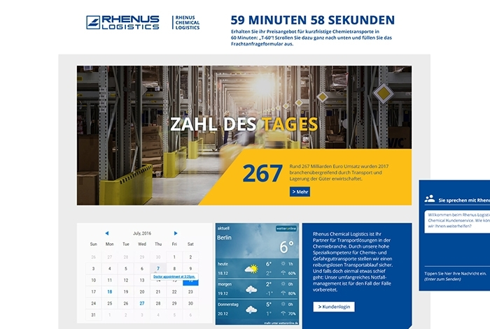 Webdesign Referenz Rhenus Logistics