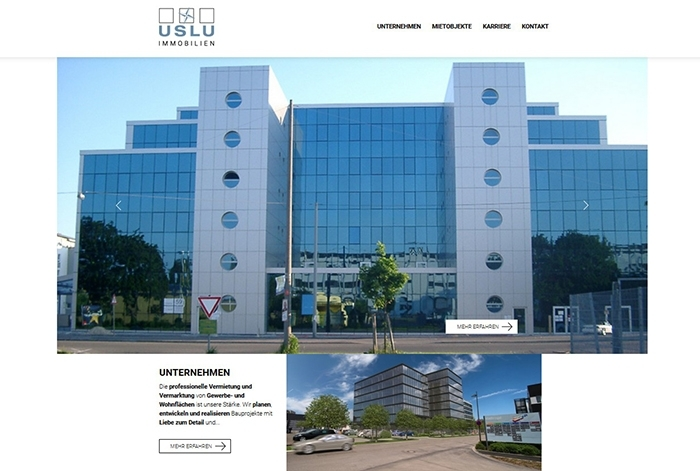 Webdesign Referenz Uslu Immobilien