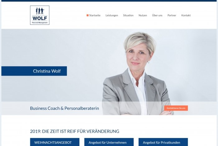 Webdesign Referenz WOLF Personal‑Management